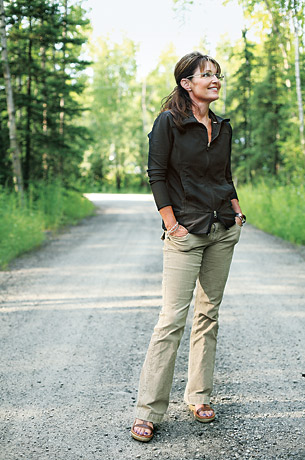 Sarah Palin in her element, Wasilla, Alaska